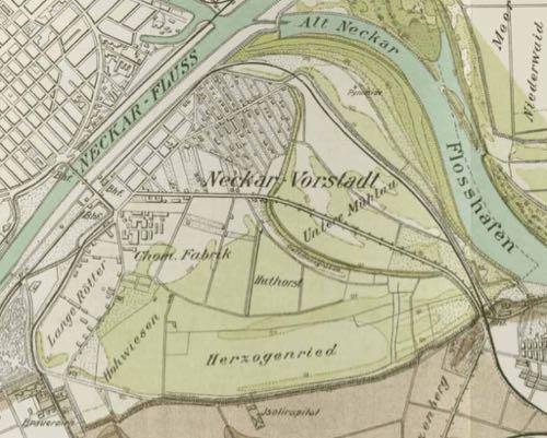 Karte der Neckar-Vorstadt